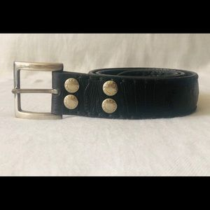Machine By Bassico Vintage  Real Leather Belt